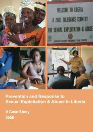 Prevention and Response to Sexual Exploitation & Abuse in Liberia