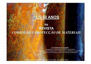 OS 50 ANOS - Sociedade Portuguesa de Materiais