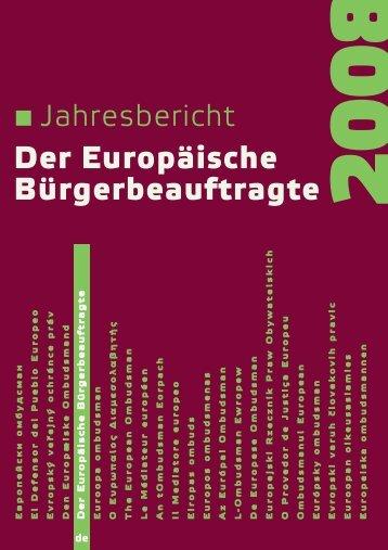 Der Europäische Bürgerbeauftragte - europäisches ombudsmann ...