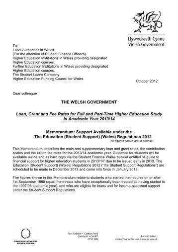 Memorandum - Student Loans Company