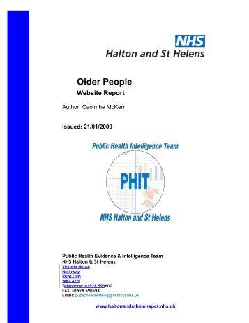 Older People - Halton and St Helens PCT