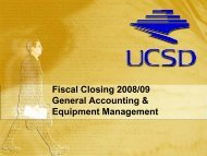 BY GENERAL ACCOUNTING. Or - Academic Affairs