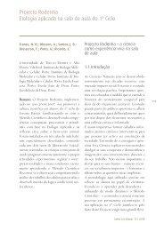 Projecto Rodentia Etologia aplicada na sala de aula do 1º Ciclo