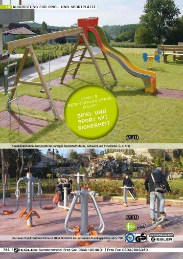 ausrüstung für spiel- und sportplätze - Ziegler
