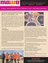 MAWA Newsletter Winter 2008 - Mentoring Artists for Women's Art