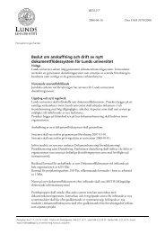Beslut om anskaffning och drift av nytt ... - Lunds universitet