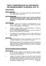 Vedligeholdelsesreglement for afd. 23 Ulriksdal