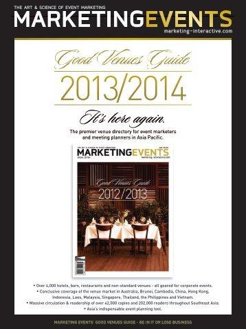 Good Venues Guide Media Kit 2013/2014 - Marketing