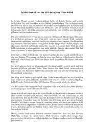 Achter Bericht von der PPP-lerin Jana Wieschollek - Gerold ...