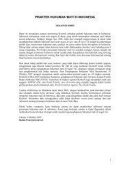 PRAKTEK HUKUMAN MATI DI INDONESIA - KontraS