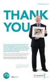 Thank You! - St. Joseph's Health Centre Foundation