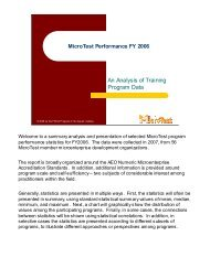 An Analysis of Training Program Data - Field