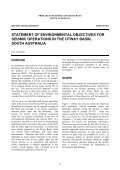 Statement of environmental objectives for seismic operations ... - MISA - Page 4
