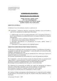 Antropología Filosófica - Facultad de Filosofía y Letras - Universidad ...