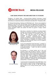 OCBC Bank appoints two new directors to its Board