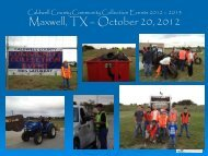 Caldwell County Community Collection Events 2012 – 2013 ...