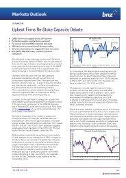 BNZ Markets Outlook