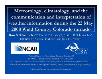 Meteorology, climatology, and the communication and interpretation ...