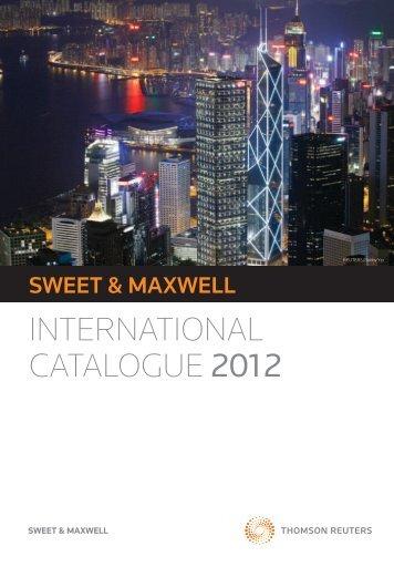 international catalogUe 2012 - Sweet & Maxwell