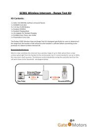 SC901 Wireless Intercom - Range Test Kit - Gate Motors