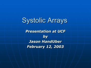 Systolic Arrays