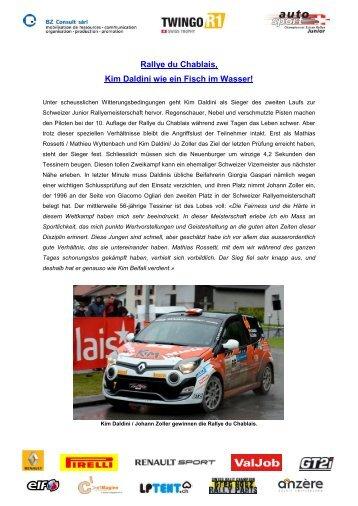 Rallye du Chablais, Kim Daldini wie ein Fisch im Wasser! - Deviens ...