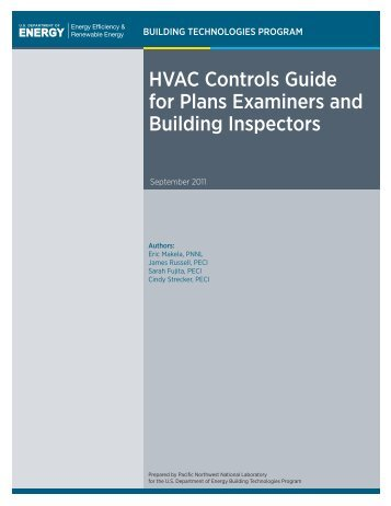 hVac controls guide for Plans examiners and Building inspectors