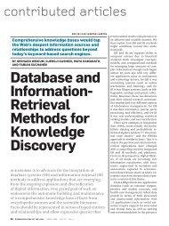 Database and information- Retrieval methods ... - cs 452 homepage