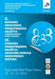 Program Kongresa Pula.pdf - Hrvatska udruga medicinskih sestara