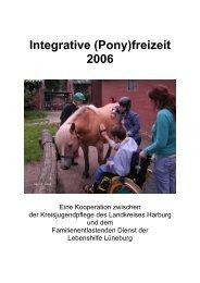 Integrative (Pony)freizeit 2006 - Zukunftsräume - Kinder- und ...