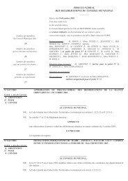 proces-verbal des deliberations du conseil municipal - Molsheim