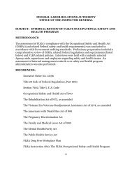 Internal Review of FLRA's Occupational Safety and Health