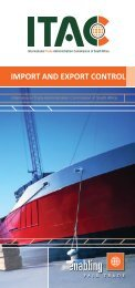 import and export control - International Trade Administration ...