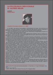 LA PSICOLOGIA INDIVIDUALE COMPARATA. Intervista a F. Parenti
