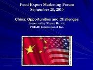 Food Export Marketing Forum September 28, 2010 - staging.files ...