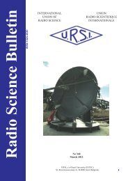 Radio Science Bulletin 340 - March 2012 - URSI