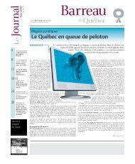 Journal du Barreau - Mai 2007 - Barreau du Québec