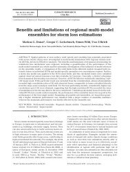 Benefits and limitations of regional multi-model ... - Inter Research