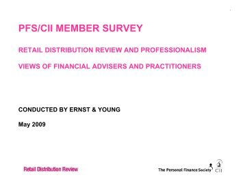 survey - The Personal Finance Society