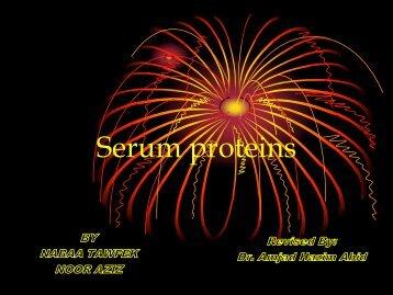 Serum proteins