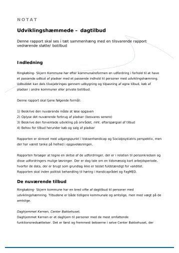 Udviklingshæmmede, dagtilbud.pdf - Ringkøbing-Skjern Kommune