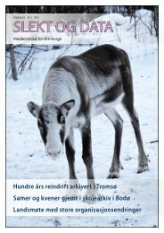 SLEKT OG DATA - DIS-Norge