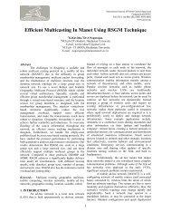 Efficient Multicasting In Manet Using RSGM Technique - Ijcns.com