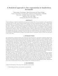 A Statistical approach to line segmentation in handwritten ... - CEDAR