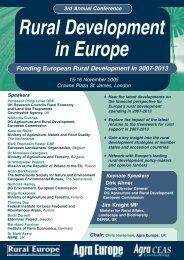 Rural Development in Europe - Rural Economy and Land Use ...