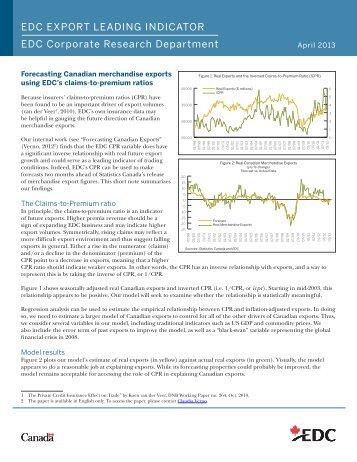 Forecasting Canadian Exports - EDC