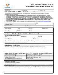 volunteer application chilliwack health services - Fraser Health ...