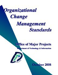Organizational Change Management Standards - Delaware's ...