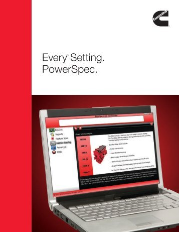 EveryTM Setting. PowerSpec. - Cummins Engines