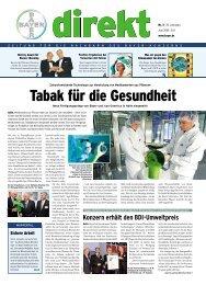 Konzern erhält den BDI-Umweltpreis - Wuppertal - Bayer AG